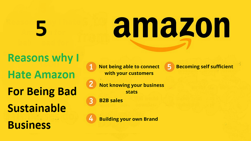 5 Reasons why I hate Amazon for being bad for sustainable business building