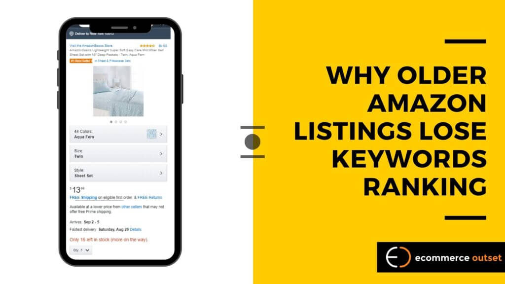 A Simple Explanation of Why Older Amazon Listings Lose Keywords Ranking