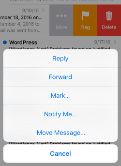 iphone move message